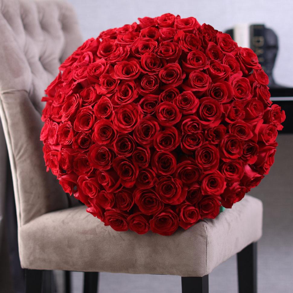Фото розы большой букет
