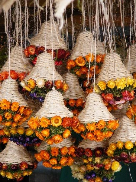 Засушенные букеты цветов