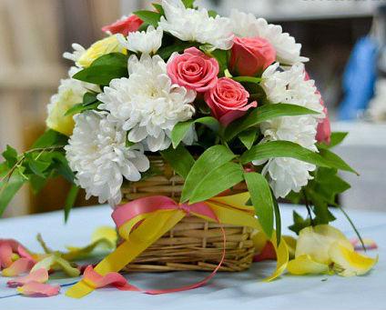 стильные букеты из живых цветов фото