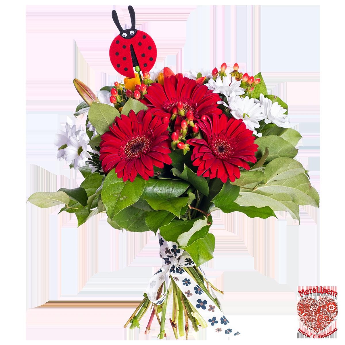 Букеты цветов для детей